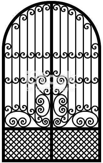 free library Vector door arch. Black and white arched