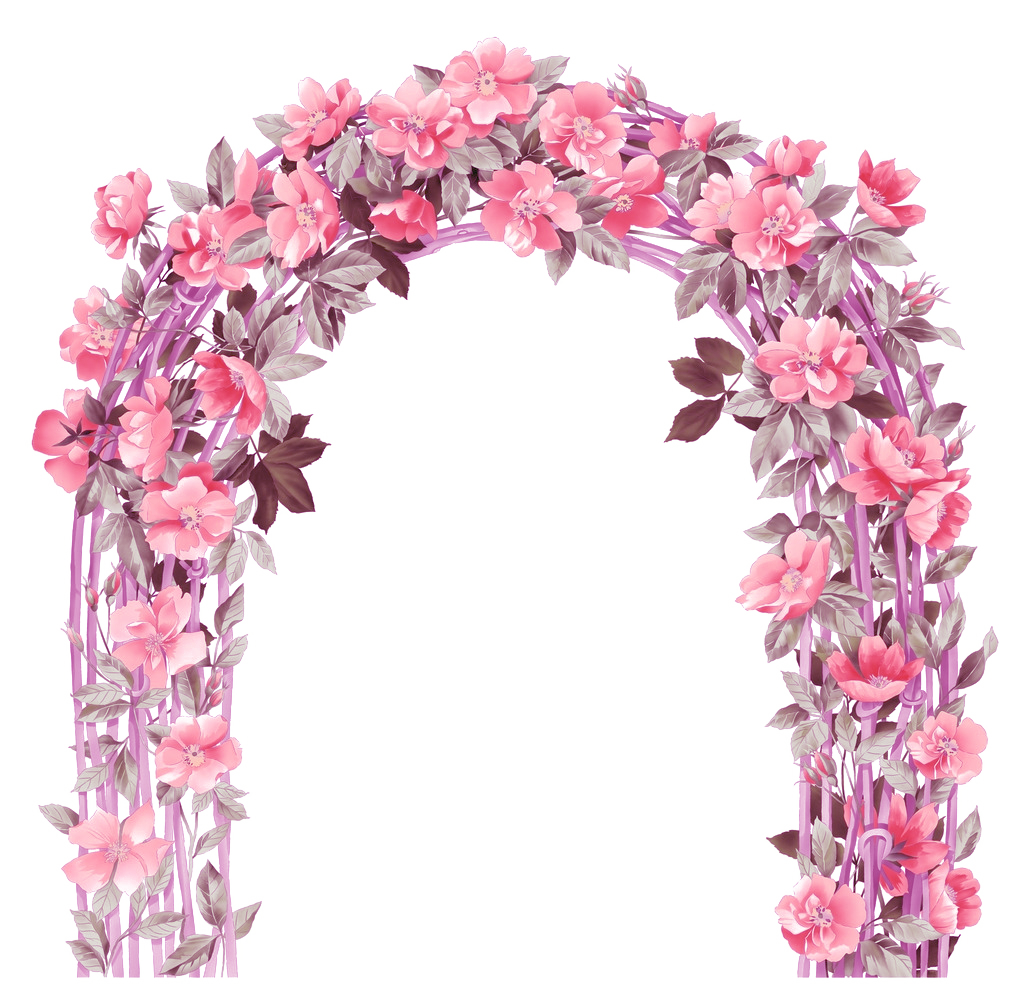 clip art free stock Flower euclidean icon flowers. Vector door arch