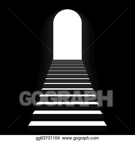 banner black and white Eps staircase to stock. Vector door arch