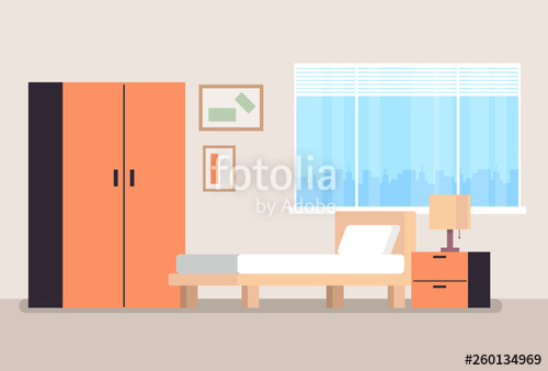 jpg download Empty concept flat cartoon. Vector door bedroom