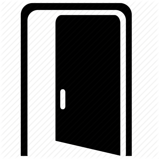 picture transparent download Vector door black and white.  icon png for