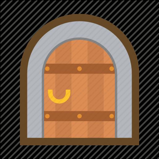 clip transparent Game by baebaek block. Vector door castle