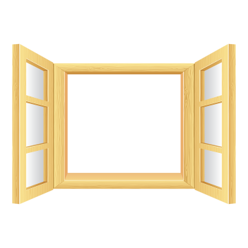 black and white library Open Window Png