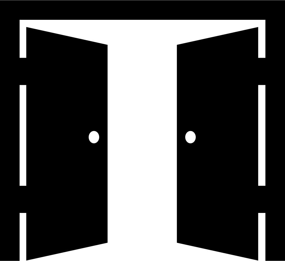 clip art royalty free stock Behind a closed innovation. Vector door creepy