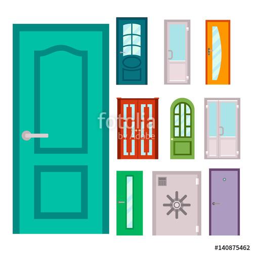 banner royalty free library Doors isolated illustration entrance. Vector door doorway