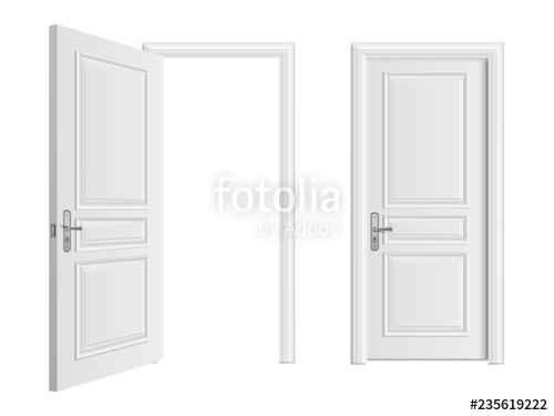 picture free Vector door doorway. Open and closed white