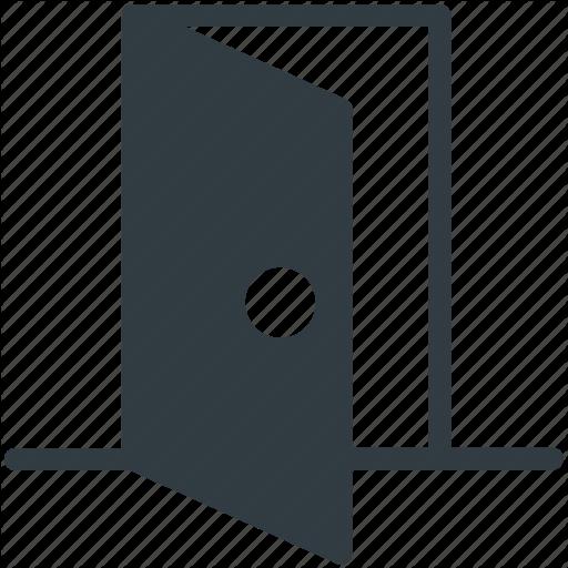 vector free stock Vector door doorway. Real estate glyphs by