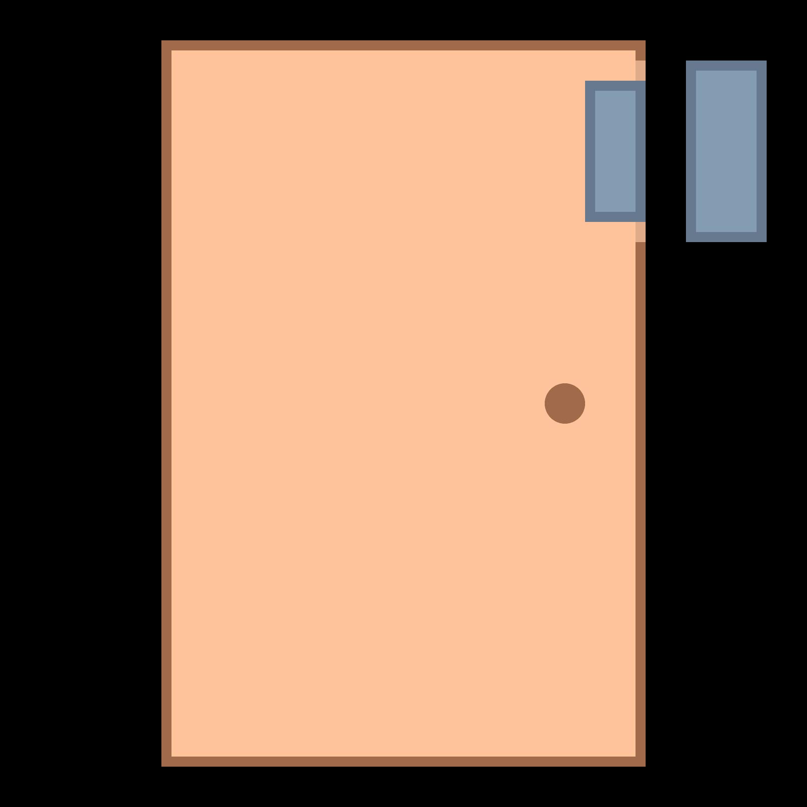clipart Sensor icon free download. Vector door flat