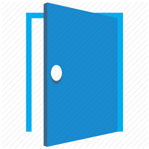 black and white download Vector door flat. Real security by aha