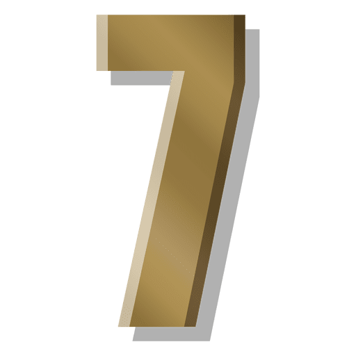 png transparent download Gold bar figure seven symbol
