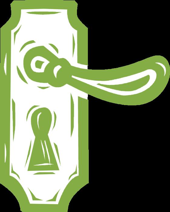 vector free download Knob handle image illustration. Vector door green