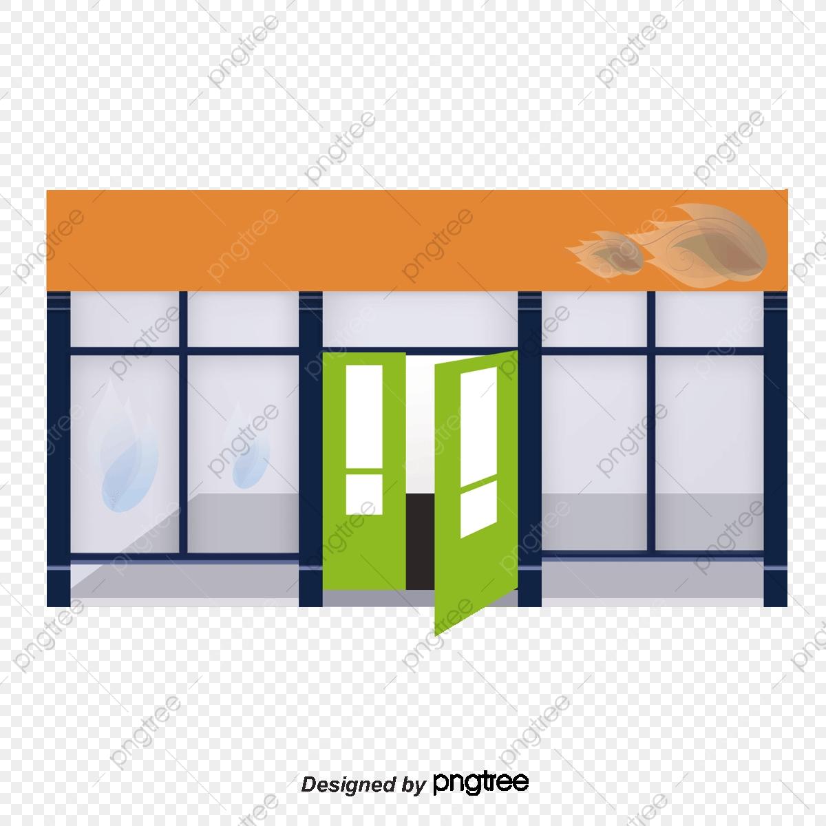 jpg transparent Glass storefront sign . Vector door green