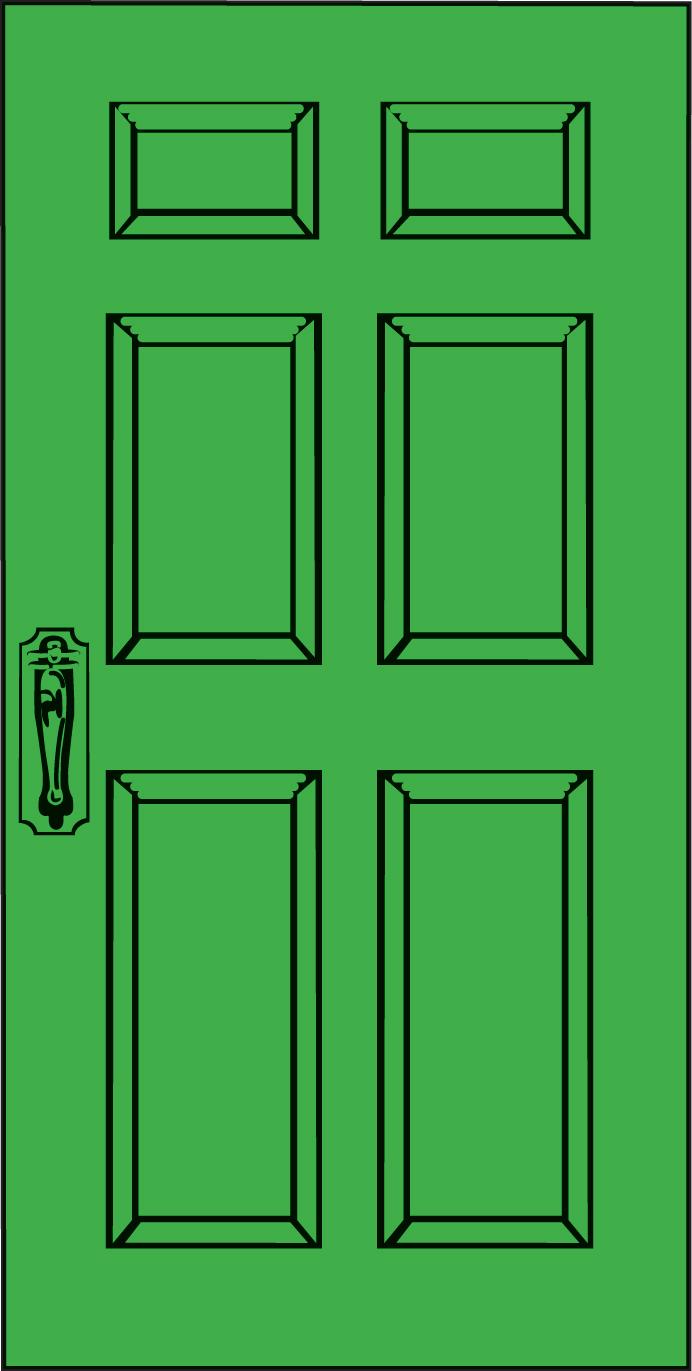 image Vector door green.  front clipart clipartlook