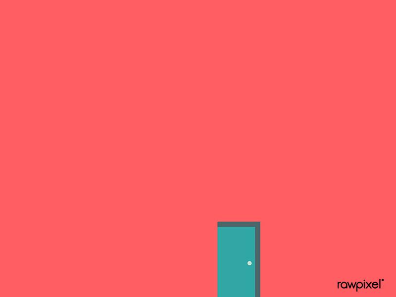 graphic free On a pink minimal. Vector door green