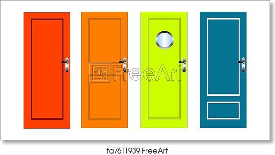 picture transparent download Free art print of. Vector door home