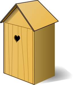image freeuse Vector door house. Outhouse with heart on