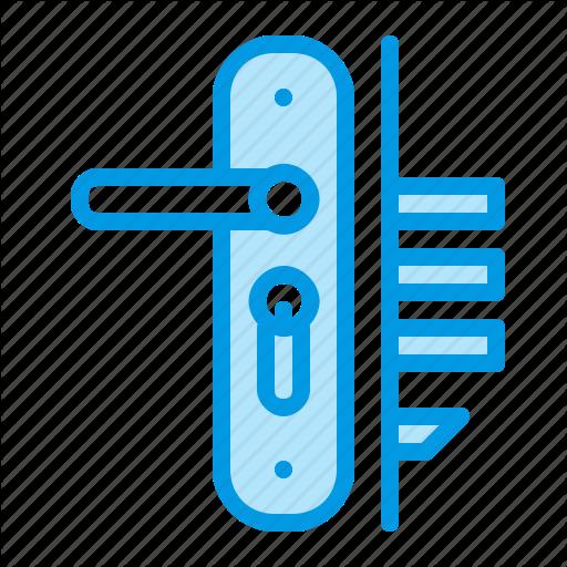vector freeuse Vector door illustrator. Installation repair service blue