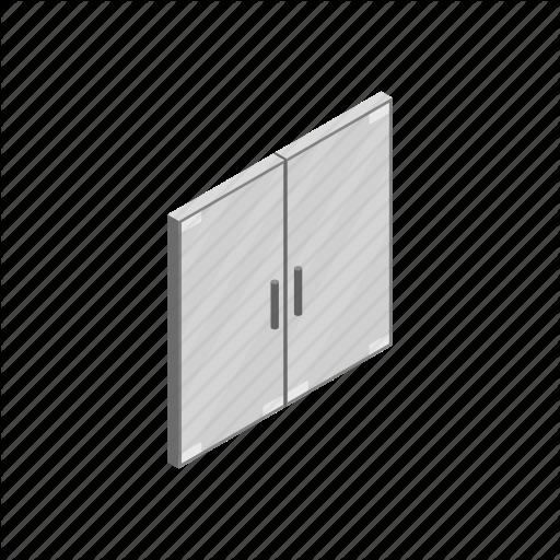 clipart freeuse Doors by yulia ryabokon. Vector door isometric