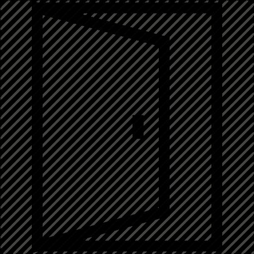 clip art free download Universal mobile line icons. Vector door main