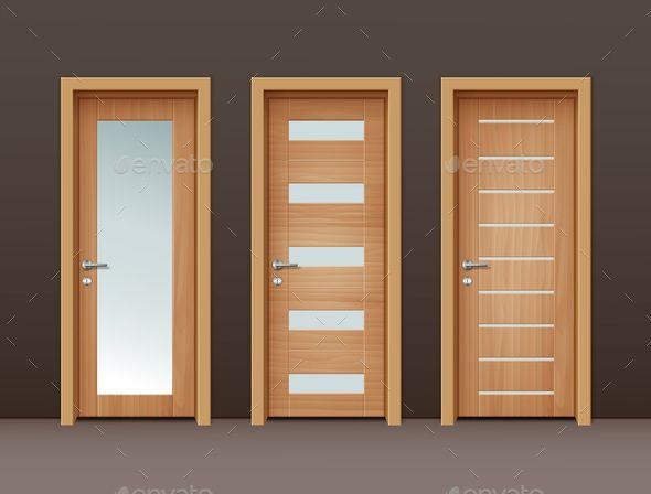 clipart transparent download Wooden doors design ideas. Vector door modern