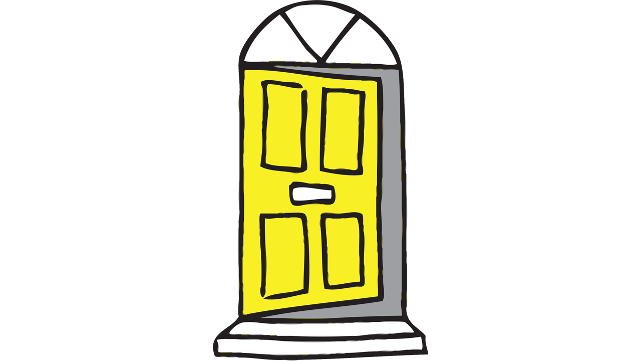 clipart black and white library Vector door modern. Yellow clipart new in