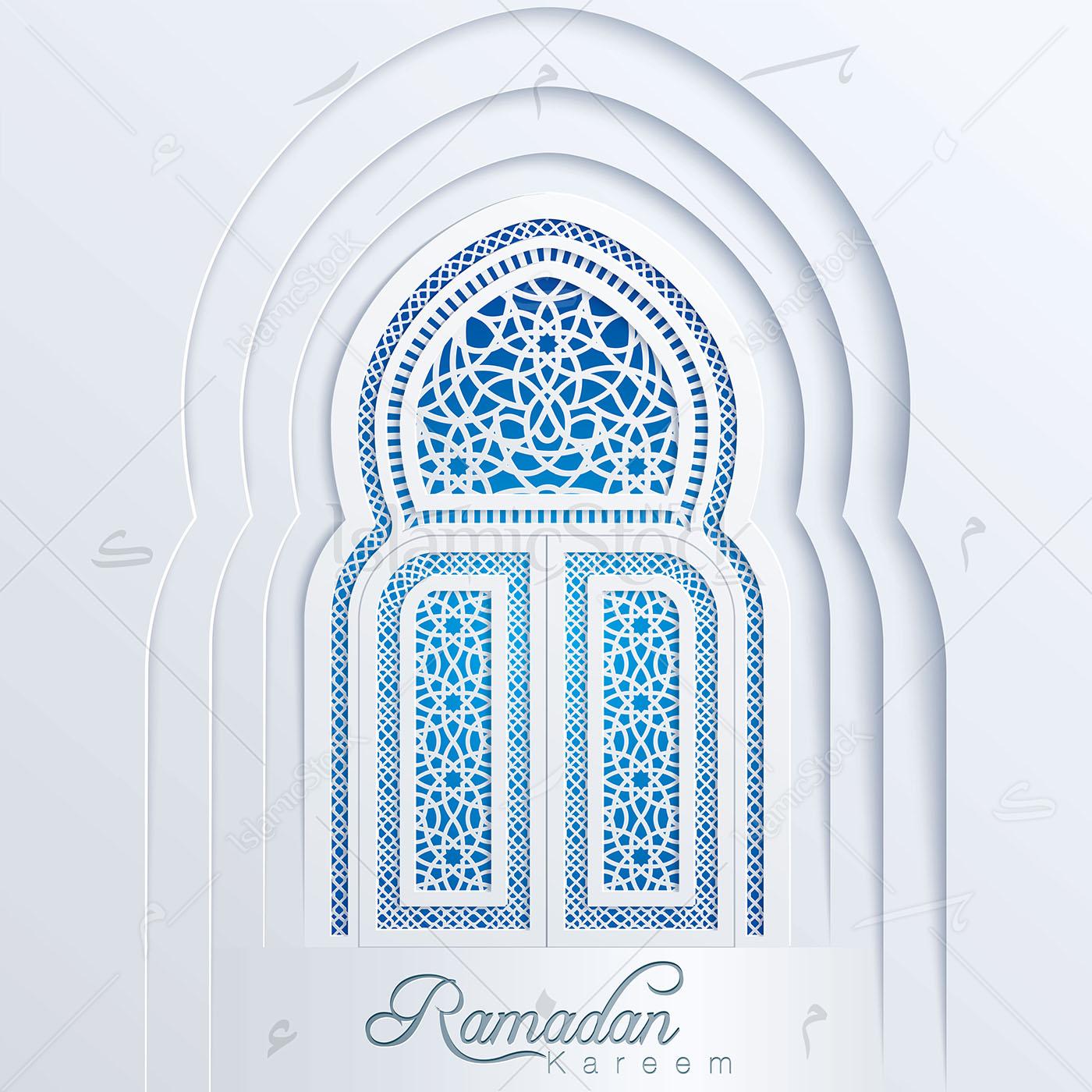 clip art freeuse stock Vector door mosque. Ramadan kareem arabic pattern