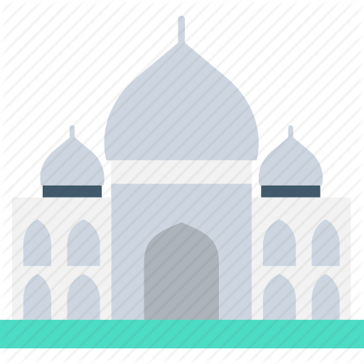 image black and white stock Flat travel icons by. Vector door mosque
