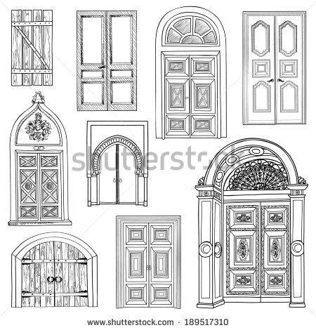 banner transparent stock Vector door old. Doors free download for