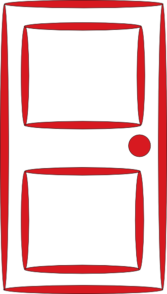 clip art Clip art at clker. Vector door red