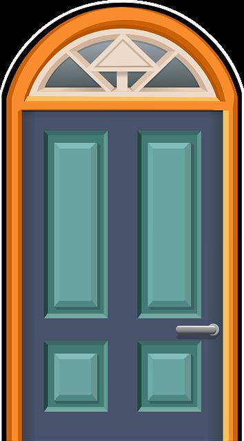 banner royalty free stock No you have seconds. Vector door room