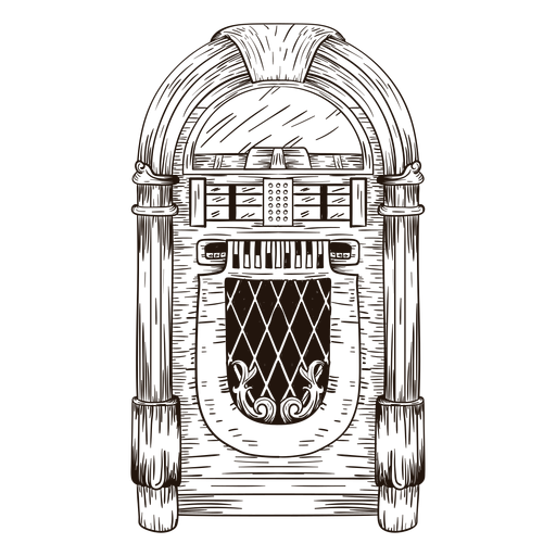 graphic freeuse stock Vector door sketch. Jukebox transparent png svg