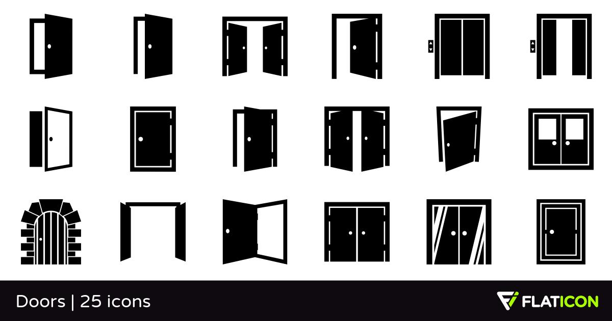 graphic download Doors free icons eps. Vector door svg