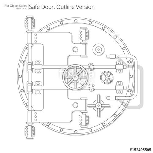 image transparent download Vector door vault. Safe and illustration of