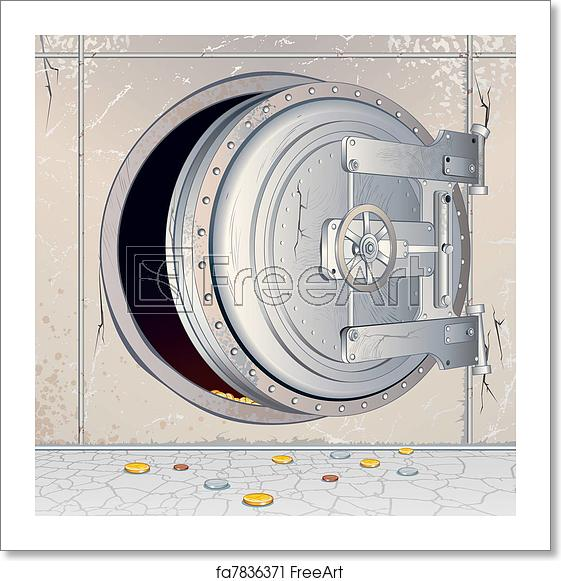 picture royalty free stock Free art print of. Vector door vault