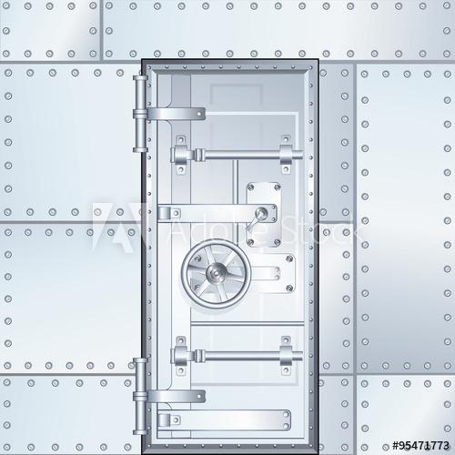 jpg freeuse stock Vector door vault. Closed bank illustration buy
