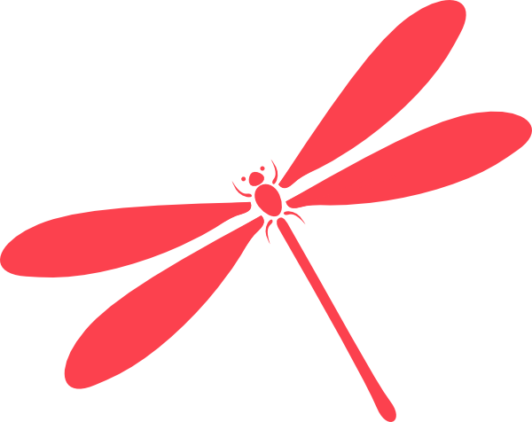 clip black and white download Pink Dragon Fly Clip Art at Clker