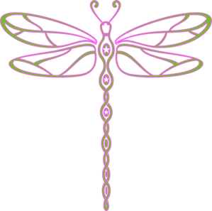 picture freeuse download Pink And Green Dragonfly Clip Art at Clker