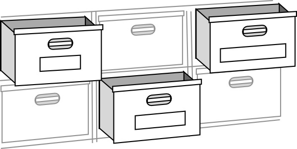 clipart black and white stock Vector drawer. Free download for commercial