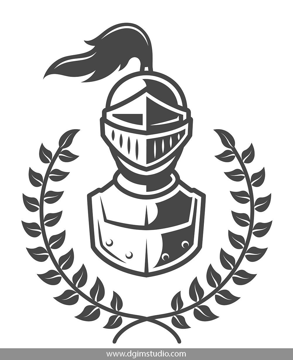 png free Knights templates and elements. Vector emblem.