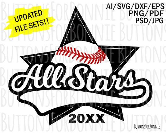 picture free stock Vector emblem baseball. All stars svg softball