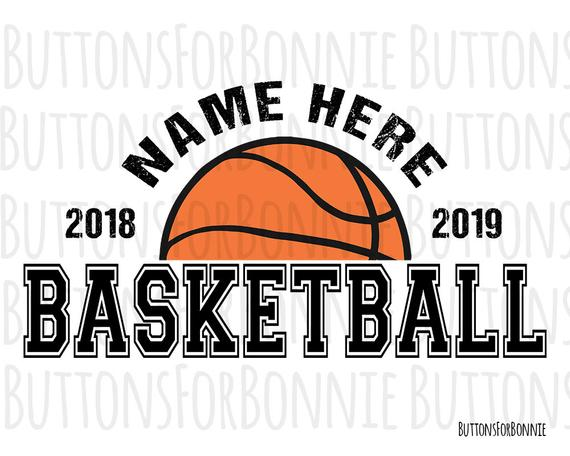 clip art royalty free library Vector emblem basketball. Svg team cutting file