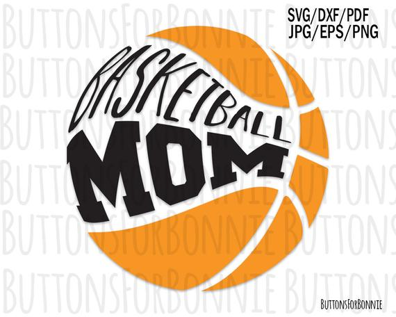 clip black and white download Mom svg digital cutting. Vector emblem basketball