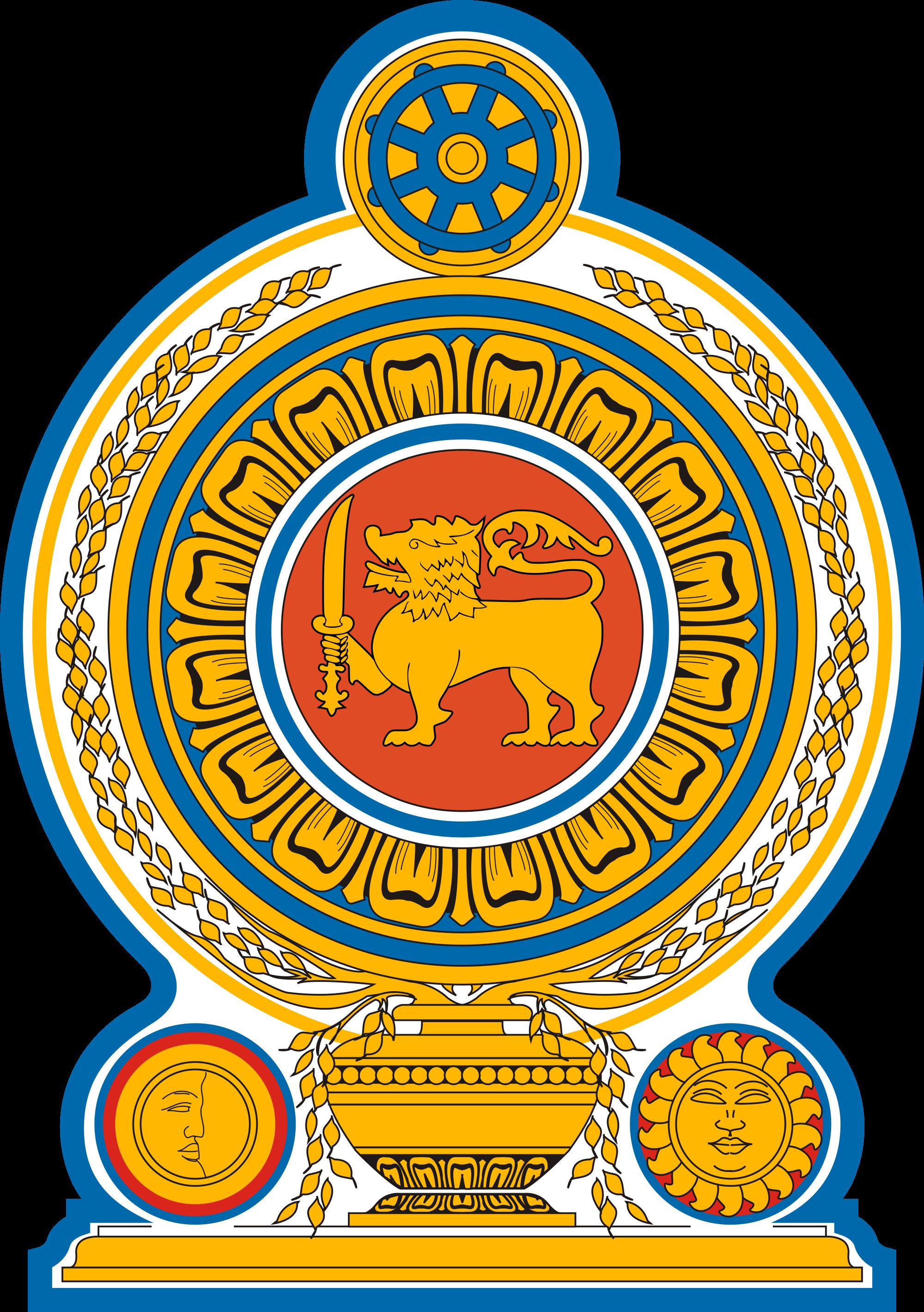 black and white stock Vector emblem batch. Of sri lanka wikipedia