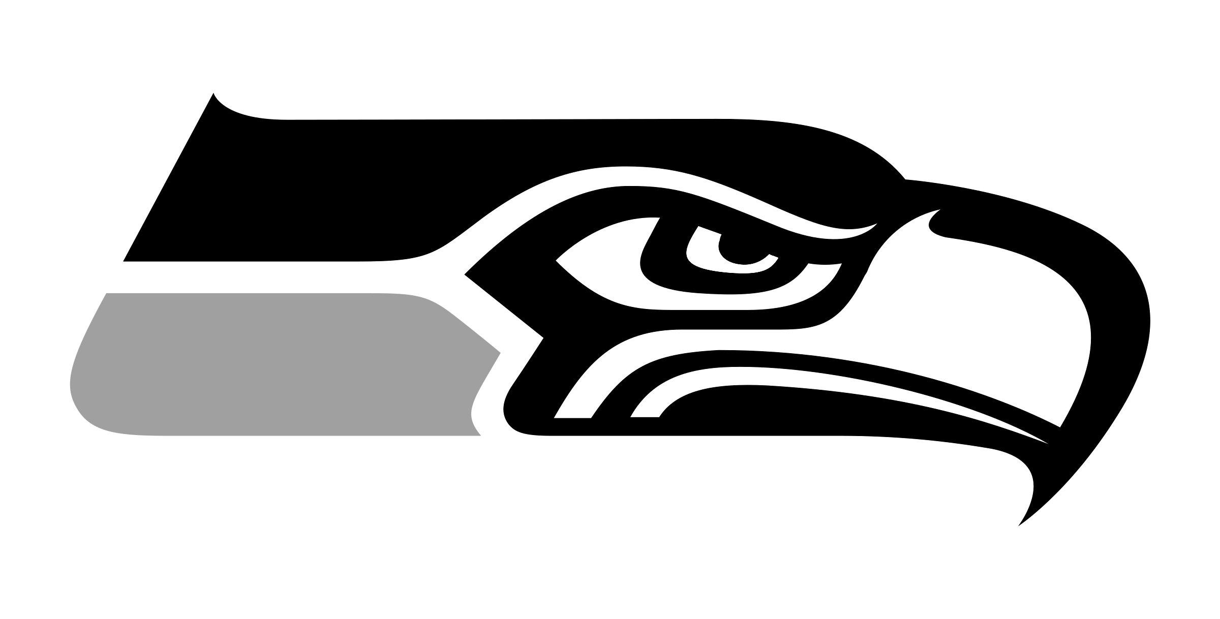 banner royalty free stock Vector emblem black and white.  seahawks for free