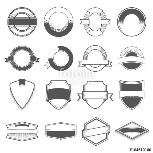 clip art free stock Set of sixteen badges. Vector emblem border