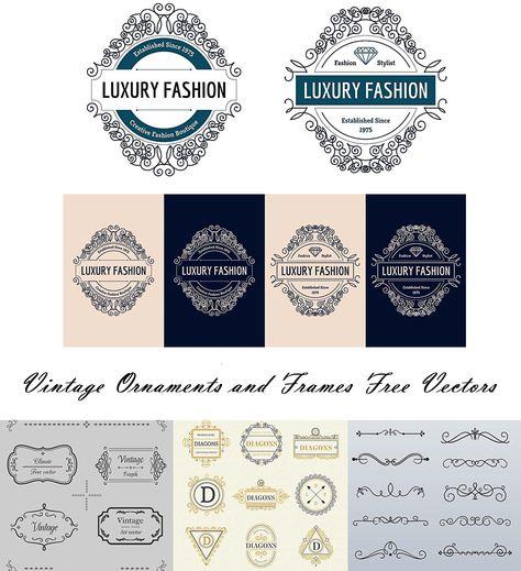 vector free download Vector emblem border. Vintage ornaments and logos