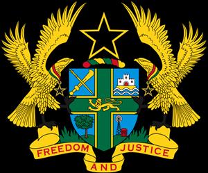 graphic transparent stock Of arms ghana logo. Vector emblem coat arm