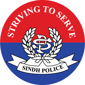 free stock Sindh police pakistan logo. Vector emblem cool badge