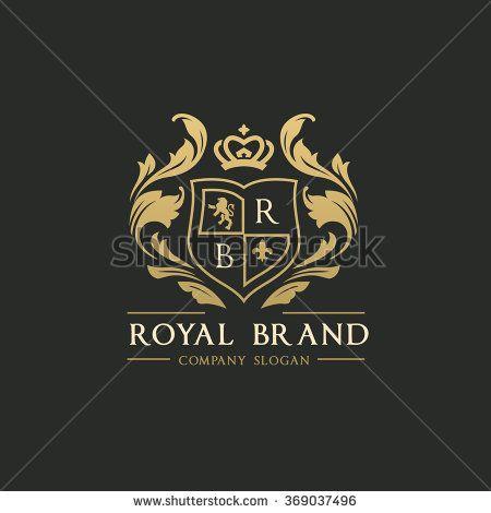 picture library download Royal brand logo crown. Vector emblem crest