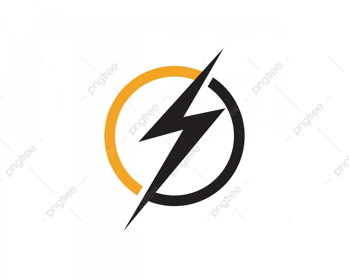 png download Vector emblem flash. Thunder bolt logo isolated